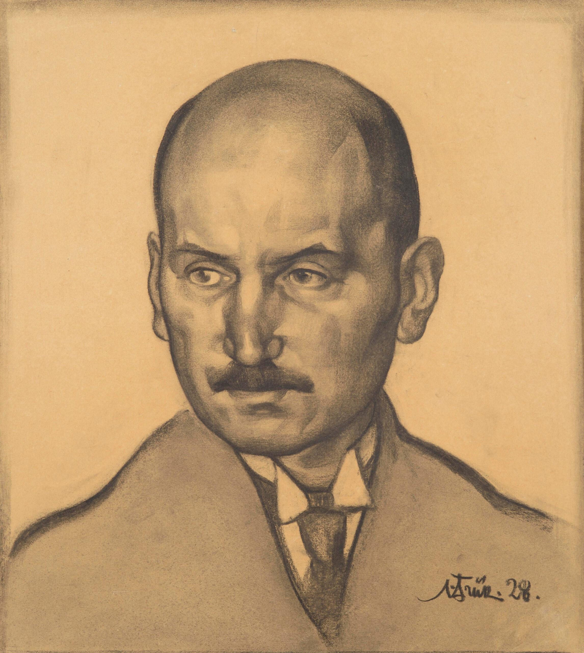 OSKAR LUTSU PORTREE | 1928 | JOONISTUS